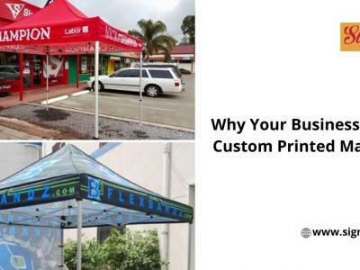 custom printed marquees